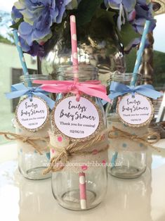 Personalised baby shower glass milk bottles, fill with sweets, treats or soda for the perfect gift for your guests