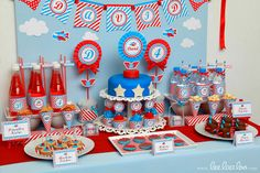 Dessert Table at an Airplane Party #airplane #party