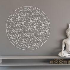 Blume des Lebens Heilige Geometrie Wand-Kunst Mandala