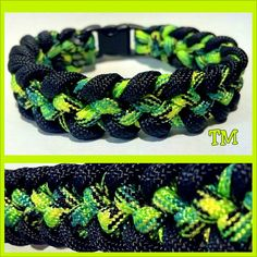 Radioactive Paracord Bracelet by ThrowinWristicuffs on Etsy, $9.00