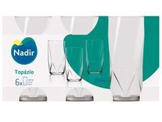 Conjunto de Copos 6 Peças - Nadir Topázio com as melhores condições você encontra no Magazine 1miguel. Confira!