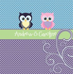 Personalized Shared Shower Curtains featuring Owl by redbeauty