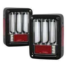 Jeep Wrangler Version 2 Light Bar Sequential LED Tail Lights; Black (07-18 Jeep Wrangler JK)