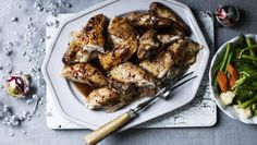 Roast chicken with a delicate hint of Chinese herbs and spices, soy and whiskey.