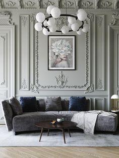 Art Deco Living Room, Living Room Designs, Luxury Home Decor, Luxury Interior, Classic Living Room, Classic Interior, Home Room Design, New Home Designs, Interior Design Inspiration