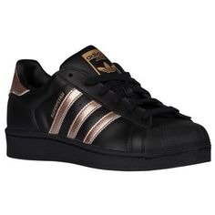 ADIDAS Women's Superstar Originals Shoes Sneaker Black Metallic Copper Rose Gold | Clothing, Shoes & Accessories, Women's Shoes, Athletic | eBay!