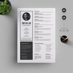 Resume/CV by Reuix Studio on Graphics Author College Resume Template, Resume Design Template, Cv Template, Creative Resume Templates, Graphic Design Resume, Letterhead Design, Cv Design, Design Ideas, Resume Tips