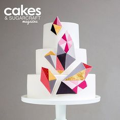 My Graphic Wedding Cake in the latest issue of Cakes