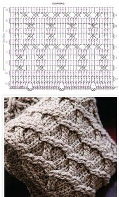 Crochet For Beginners Aran Cushion Covers FREE pattern, chunky beige CROCHET cabled cushion covers (hva) - Aran Cushion Covers FREE pattern, chunky beige CROCHET cabled cushion covers (hva) Crochet Pillow Patterns Free, Chunky Knitting Patterns, Crochet Stitches Patterns, Knitting Stitches, Stitch Patterns, Afghan Patterns, Free Pattern, Pattern Ideas, Free Knitting