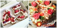 To je nápad! Mini Cupcakes, Cupcake Cakes, Alphabet Cake, Pavlova, Cake Designs, Food And Drink, Pie, Baking, Desserts