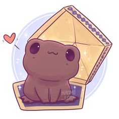 Have a little Chocolate Frog ✨ ✨ Should I draw more Kawaii Harry Potter food? Any requests? :3 • #chocolatefrog #frog #honeydukes…