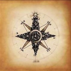 compass tattoo (May you always find your Way home)! This maybe my compass tattoo! Trendy Tattoos, New Tattoos, Tattoos For Women, I Tattoo, Tatoos, Swirl Tattoo, Star Tattoos, Beach Tattoos, Bicep Tattoo
