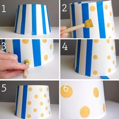 Cute lampshade project to match Land Of Nod Gold dot bed sheet set www.landofnod.com