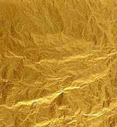 Gold leaf is gold that has been hammered into extremely thin sheets by goldbeating and is often used for gilding. Description from pixgood.com. I searched for this on bing.com/images