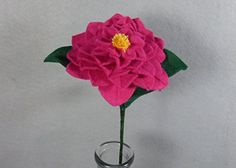Pink Camellia Made of Felt - Felt Camellia - Fake Camellia - Artificial Camellia - White Flower - Felt Flower - Artificial Flower - Fake Flower. This is a beautiful flower made of felt that lasts forever! It looks great in a vase by itself or as part of a bouquet. The stem is made of a floral wire, so it is stable but bendable. Price is for one flower. If you want another color, please check my shop. If you don't see the color you want there, please message me. I have many different…