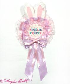 Lyrical Bunny Rosette Brooch - White [172KA06-130118-wh] - $47.00 : Angelic Pretty USA
