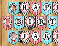 Jake and the Neverland Pirates Birthday Banner  by InstaBirthday