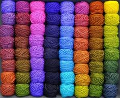 colorshiftyarn. How can you NOT love this dye work? Takes lots of time and care and patience to achieve results like these. Imagine an afghan or a rug with all these and in that order . . .