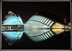 Night architecture in Valancia Spain.need go back, don't forget! Concept Architecture, Futuristic Architecture, Beautiful Architecture, Interior Architecture, Valencia, Most Beautiful Pictures, Beautiful Places, Amazing Places, Santiago Calatrava
