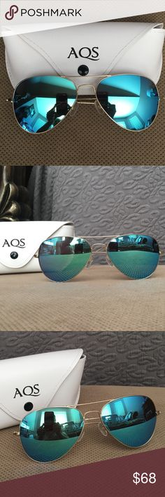 AQS By Aquaswiss Sunglasses James reflective metal aviator frame sunglasses. Metal with mirror tinted lens. Only have been used a few times in good condition. AQS Accessories Sunglasses