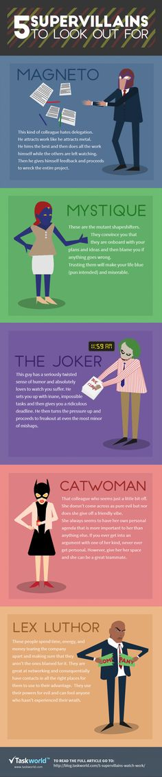 5 Supervillains To Look Out For At Work #infographic #Business #Management…