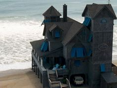 Beach House, Rodanthe, North Carolina where Nicholas Spark's book Nights in Rodanthe, this is the home that was in the movie. It has been moved off this site to keep it from falling into the ocean.