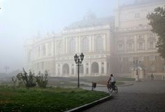 Foggy morning in beautiful Odessa Ukraine