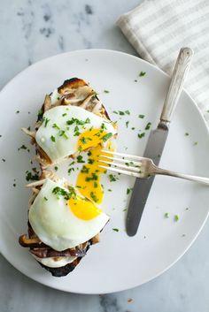 Mushroom Toast with Soft-Cooked Eggs