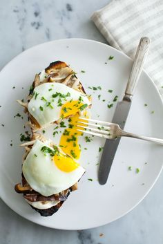 Mushroom Toast with Soft-Cooked Eggs