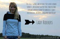 unser kostenloses Schnittmuster für Damen: Lady Rockers Sitzt besonders figurbetont und besticht durch die vielen Variationsmöglichkeiten