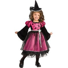 Pink Party Witch Child Halloween Costume