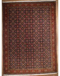 Semi-antique Persian Bijar Area Rug 1086 - Area Rug