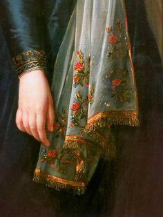 Portrait of Theresa, Countess Kinsky,1793 (detail) Louise Élisabeth Vigée Le Brun #Art #Detail