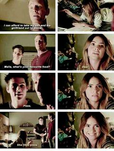 "Teen Wolf Season 04 Episode 11 ""A Promise to the Dead"" Sheriff Stilinski, Malia and Stiles. Not a Stalia fan but I like this scene Stiles Teen Wolf, Stiles And Malia, Teen Wolf Dylan, Teen Wolf Cast, Teen Wolf Malia, Teen Wolf Memes, Teen Wolf Quotes, Teen Wolf Funny, Tv Quotes"