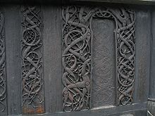 Viking art - Wood carving at Urnes Stave Church in Norway—a rare survival.