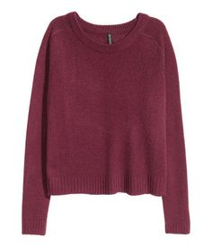 H&M Knit Sweater $13 :: Knit sweater in soft fabric with ribbing at neckline, cuffs, and hem. Slits at sides.