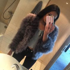 Fur Slides, Dress To Impress, Fur Coat, Sandals, How To Wear, Outfits, Shoes, Style, Instagram
