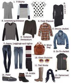 Basic 14 for stay at home mom wardrobe