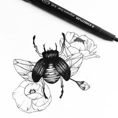 #HoneyBee #Drawing #Tattoo #Sketch Bee, Design, Illustration, Image - Photo by @eva.svartur - Follow #extremegentleman for more pics like this!