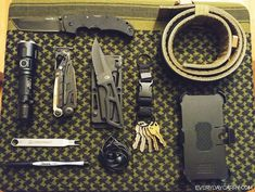 The EDC for a firearms enthusiast and frequent shooter at the range.
