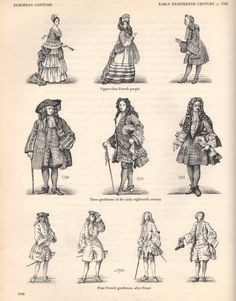 The different fashions in the classes Louis Xiv, Baroque Fashion, European Fashion, Vintage Fashion, European Style, 17th Century Fashion, 18th Century Clothing, Mode Masculine, Historical Costume