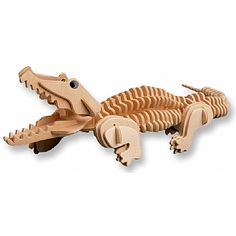 3-D Wooden Puzzle - Crocodile -Affordable Gift for your Little One! Item #DCHI-WPZ-M013