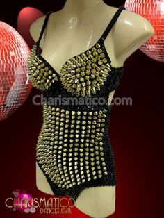 Charismatico Dancewear Store - CHARISMATICO Sexy Rocking Punked out Black and Silver Spiky Showgirl's Leotard, €141.88 (http://www.charismatico-dancewear.com/charismatico-sexy-rocking-punked-out-black-and-silver-spiky-showgirls-leotard/)