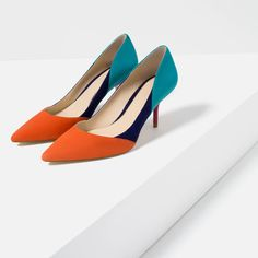 CONTRAST LEATHER HIGH HEEL SHOES-View all-SHOES-WOMAN | ZARA United States