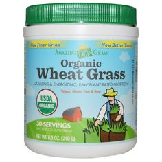 Amazing Grass, Organic Wheat Grass, 8.5 oz (240 g) Drink 1st thing in morning and last at night. #ThankMeLater