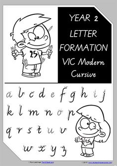 FONT OPTION | Year 2 | Handwriting | A-Z Letter Formation | VIC Modern Cursive | PREMIUM RESOURCE