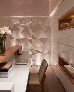 Revestimento 3D: veja 30 ambientes decorados com muita elegância