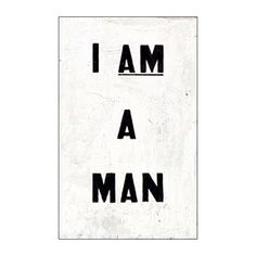 Glenn Ligon 'I AM A MAN' Journal