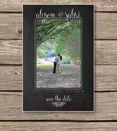 Printable Save the Date / DIY Custom Save the Date #Chalkboard #Savethedate  by limefishshop on Etsy