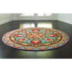 Our Beautifully Colored Round Rug Evokes The Delicacy And Elegance Of Chinese Ginger Jars Hand